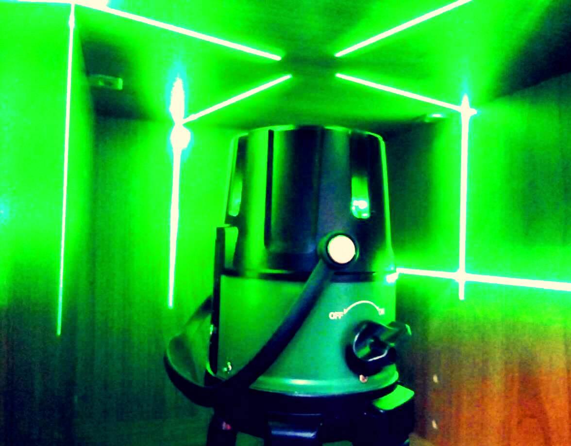 лазерный нивелир зелёный