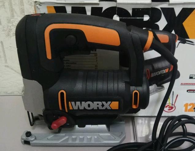 Продам новый электролобзик Worx. Оригинал. В комплекте имеется пилка. Доставка по России ТК ПЭК Энергия.